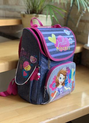 Ранец рюкзак школьный каркасный принцесса софия, ортопедическа...