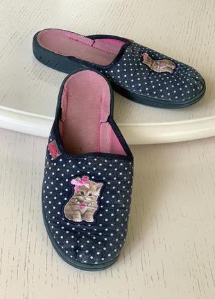Тапочки befado 33 размер, каблук, 21 см, закрытый носок, котик...
