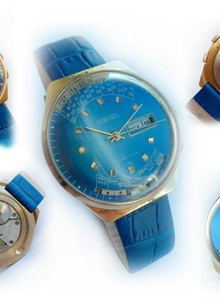 часы «Ракета_МИЛЛЕНИУМ» сделано в СССР 80-х. ЗОЛОЧЁННЫЕ мужские