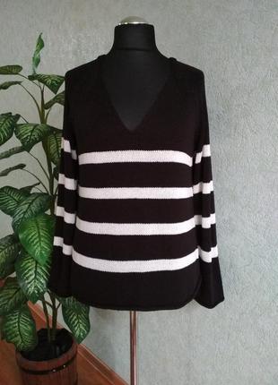 Пуловер женский, оверсайз, теплый. basic h&m.