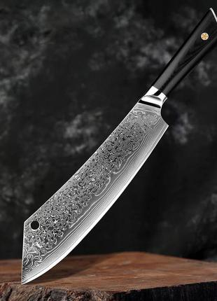 Шеф нож из дамасской стали