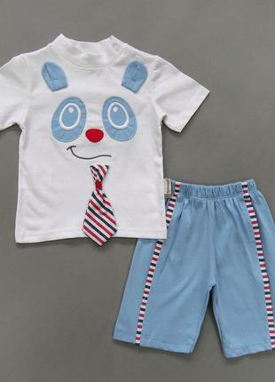 "Летний костюм ""Панда"" для мальчика"