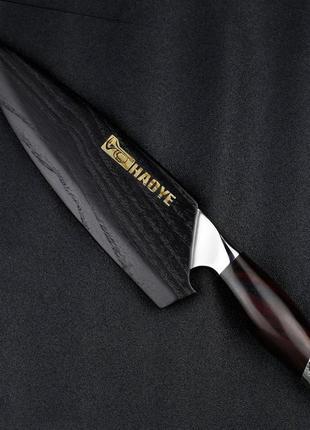 Японский премиальный нож из дамасской стали «АКУЛА» + МАГНИТНЫ...