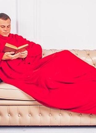 """Плед с рукавами - """"красный"""""""