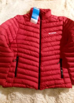 Куртка пуховик мужской columbia красная