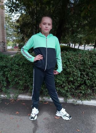Спортивный костюм двухнитка (тонкий) для девочки. 122  (7 лет)
