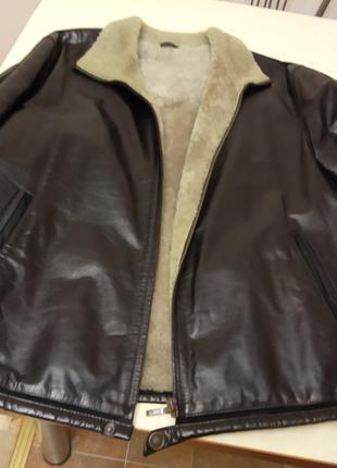 Продаю куртка кожанная натуральная зимняя мужская