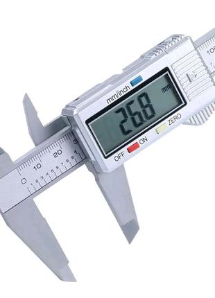 Штангенциркуль с нониусом, 6 дюймов, 0-150 мм