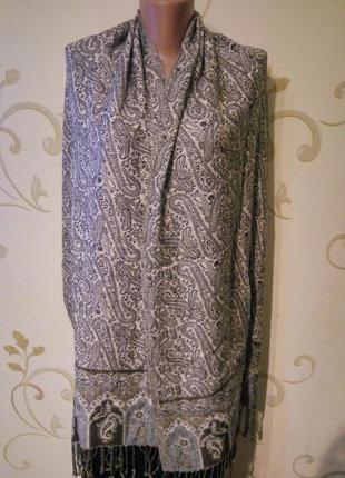 We красивый шарф шаль палантин . вискоза . 186х52 см