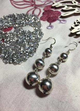 Серьги серебро стерлинг