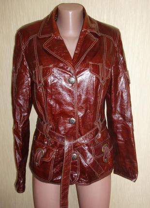 Куртка кожа лак