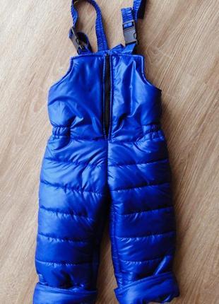 Зимний полукомбинезон комбез утеплённые штаны
