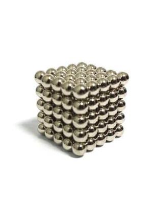 Неокуб NeoCube Серебристый 5x5x5, 125 шариков
