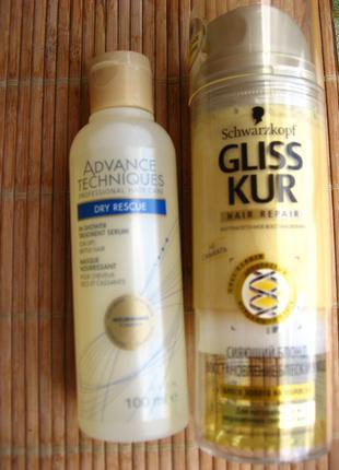 Лосьон гель кондиционер Gliss Kur для блонда, сыворотка для волос