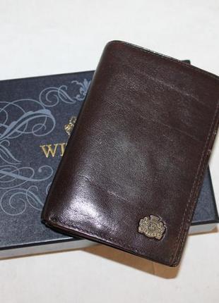 Кожаный кошелек портмоне wittchen 100% натуральная кожа
