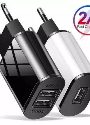 Зарядное устройство Usb 2А,  3А (eu, us) 2 порта