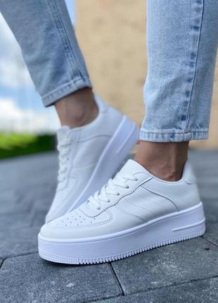 ❤️ классные удобные  белые криперы кроссовки