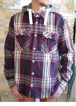 Куртка рубашечного кроя со съёмным трикотажным капюшоном от ce...