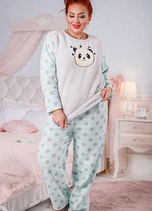 💥мягкая теплая плюшевая пижама
