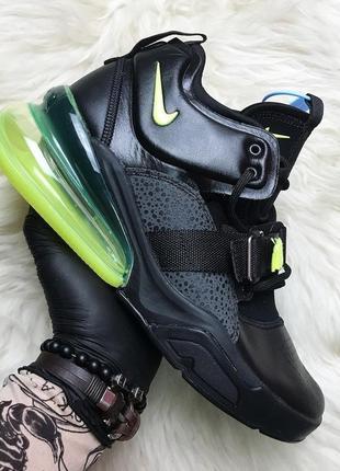 Nike air force 270 black green. мужские демисезонные кроссовки...