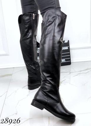 💥 шикарные ботфорты высокие кожаные сапоги