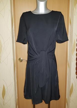 Красивая блуза туника платье с поясом  бантом