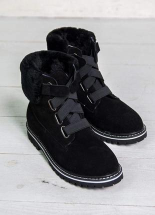 Женские зимние ботинки ugg australia натуральный мех овчина