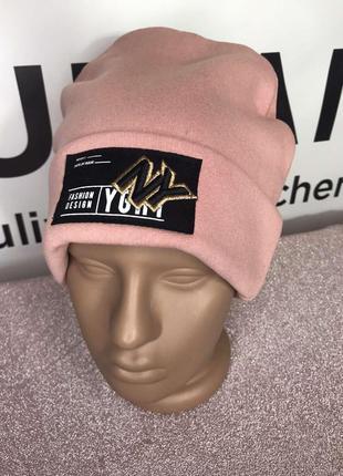 💥теплая стильная шапка лопатка с логотипом