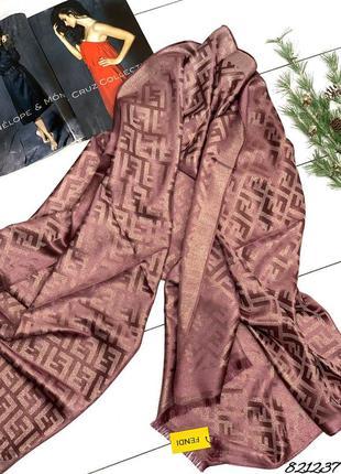 💥 шикарный кашемировый палантин шарф с люрексом темная сирень