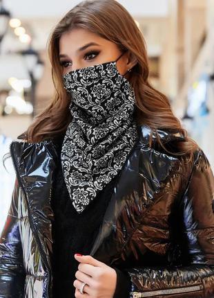 💥 стильный платок маска на шею двухсторонний