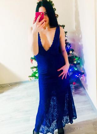 Платье вечернее кружевное onayaya