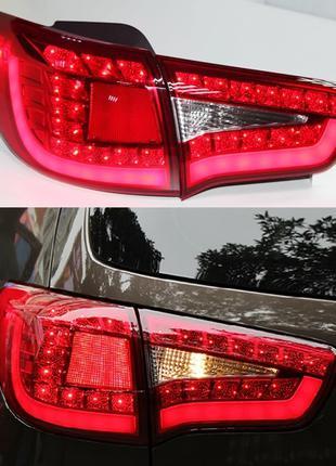 Диодные фонари Kia Sportage 3 тюнинг Led оптика (красные)