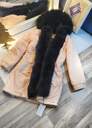 Зимняя парка натуральный мех овчина слимтекс от производителя