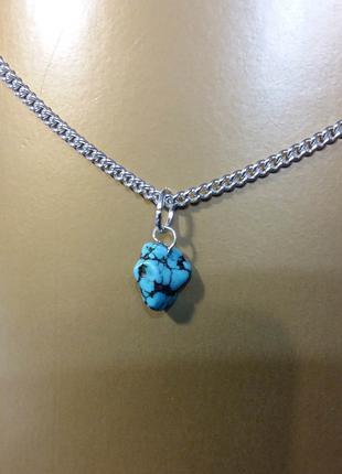Новый кулон говлит (бирюза) натуральный камень подарок девушке