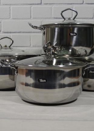 Набор кастрюль из нержавеющей стали Royal Queen + Кухонные весы