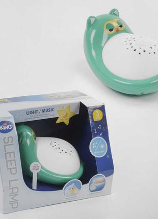 Ночник детский музыкальный зеленый в детскую комнату, светильник