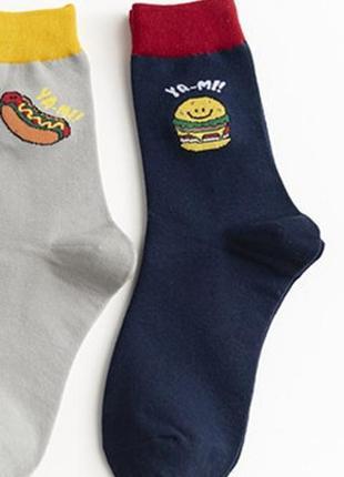 Шкарпетки з яскравим принтом 766н