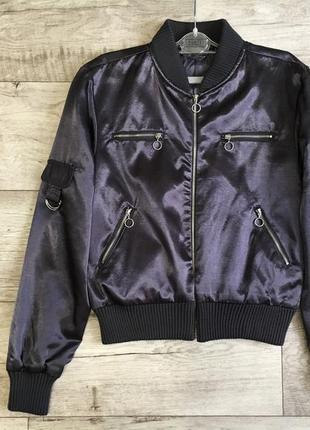 Бомбер женский куртка ветровка с