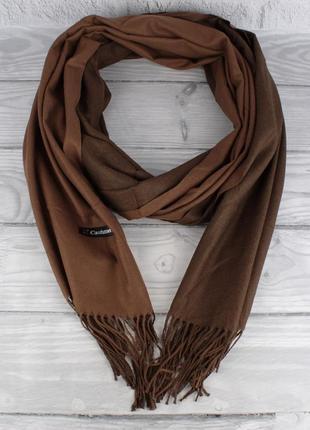 Двусторонний кашемировый шарф, палантин cashmere 7280-8 коричн...