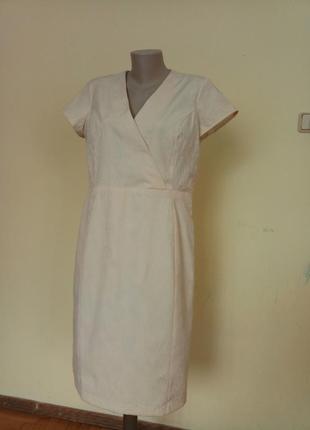 Шикарное нарядное английское платье фактурная ткань