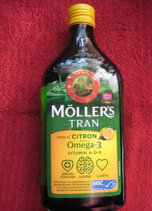 Рыбий жир Moller Норвегия Омега 3