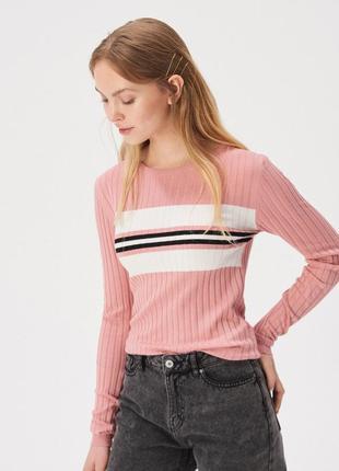 Новая облегающая розовая кофта пудра свитер джемпер польша бел...