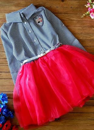Волшебное платье для девочки с поясом