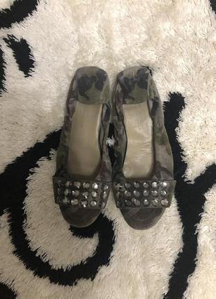 Замшевые туфли камуфляж!