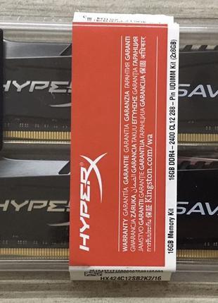 Оперативная память Kingston HyperX Savage DDR4 2400 2*8=16GB -...