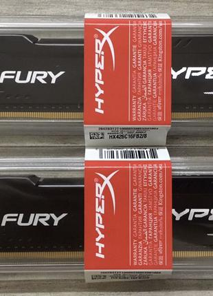 Оперативная память Kingston HyperX Fury DDR4 2666 2*8=16GB - О...