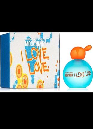Moschino I Love Love Туалетная вода (мини) 4.9 ml  ОРИГИНАЛ