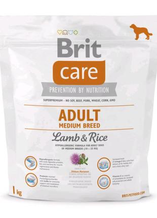 Brit Care Adult Medium Breed Lamb & Rice 3 кг корм для собак сред