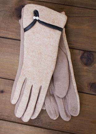 Женские стрейчевые сенсорные перчатки мех