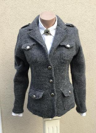 Шерстяной жакет,пиджак,кардиган,кофта,короткое пальто,италия,m...